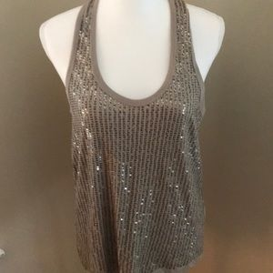 Sexy back sequined tank